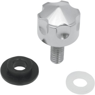 """DRAG SPECIALTIES SIX-SHOOTER SEAT MOUNT KNOB HARLEY 00-18 WITH 1/4""""-20 FENDER"""