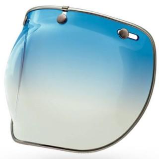 BELL CUSTOM 500 3-SNAP BUBBLE DLX SHIELD - ICE BLUE GRADIENT